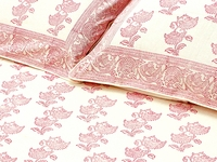 Tilonia Home: Twin Duvet Set - Cranberry Red & White Floral