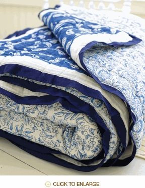 Tilonia Home: Twin Quilt - Belle Isle Blue