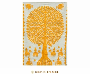 "Tilonia® Wall Hanging - Tree of Life in Yellow - 32"" x 52"""