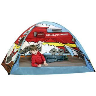 All aboard for the new Pacific Play Tents  Dream Land Express  Train Bed Tent. This super fun engine will take the most demanding conductor to sleep land.  sc 1 st  Tinker Tots & Dreamland Express Train Bed Tent - Full/Double Size