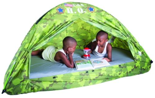 Itu0027s hard work running a command post but if young generals need to stay the night thereu0027s plenty of room inside the Pacific Play Tents Hq Bed Tent - Twin ...  sc 1 st  Tinker Tots & Pacific Play Tents HQ Bed Tent - Twin Size