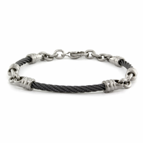"3mm Black Titanium Cable ""Rosenberg"" Bracelet"