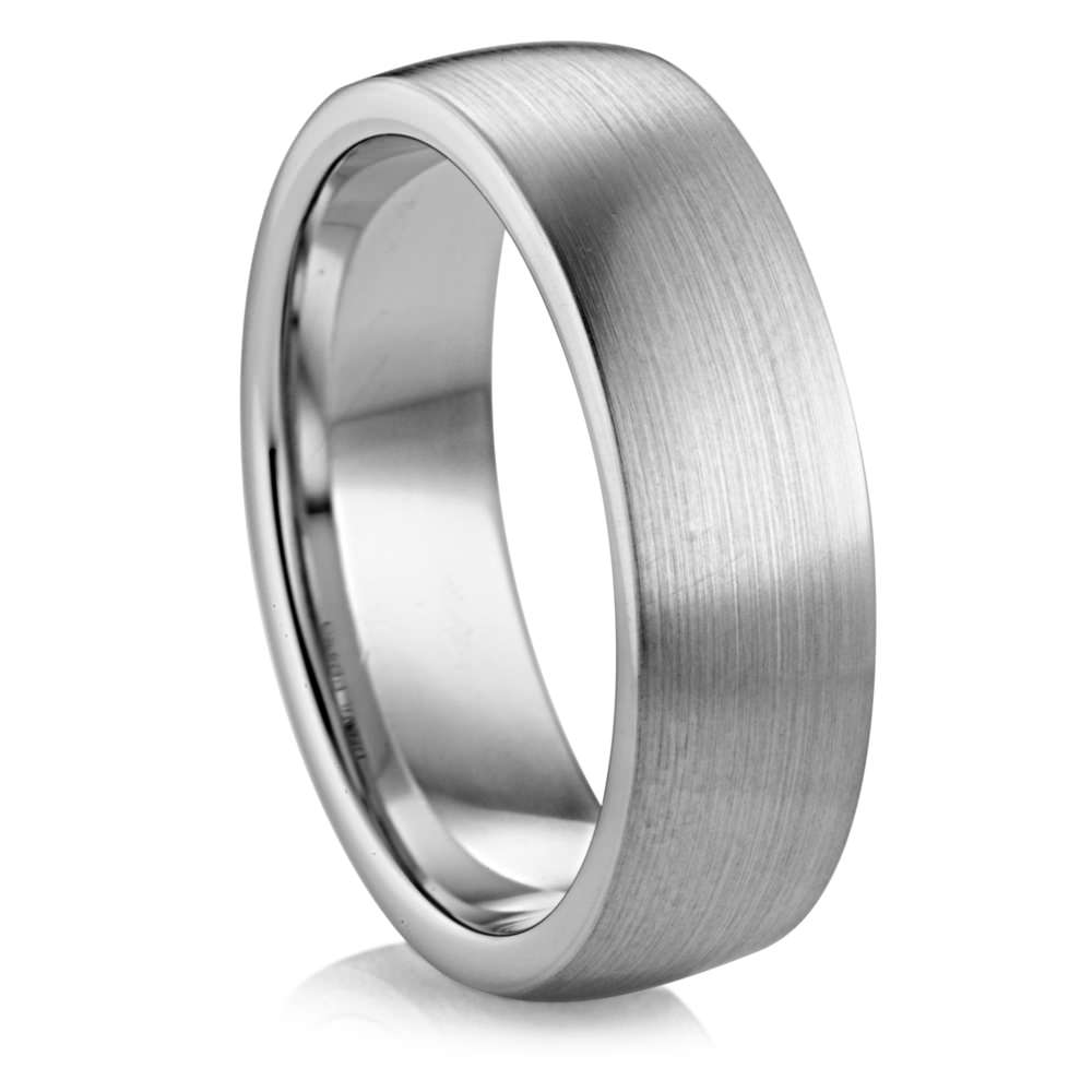 7mm flat profile palladium band diana classic mens wedding bands - Palladium Wedding Rings