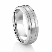 7mm Palladium Wedding Band by DIANA Classic