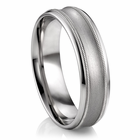 "ARTCARVED Palladium Wedding Band - ""CORTINI"""