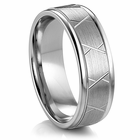 "ARTCARVED®   Palladium Wedding Band - ""BRINSON"""