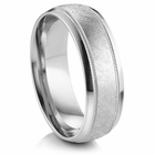 "ARTCARVED  ® Palladium Wedding Band - ""SUSSEX"""