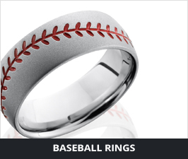 Baseball Mens Rings by Lashbrook