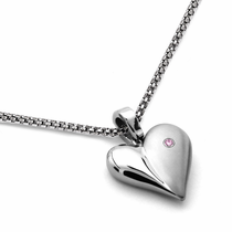 Pink Sapphire Heart Necklace by Edward Mirell