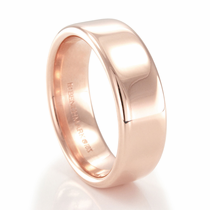 BENCHMARK 14K Rose Gold Wedding Band Rhett