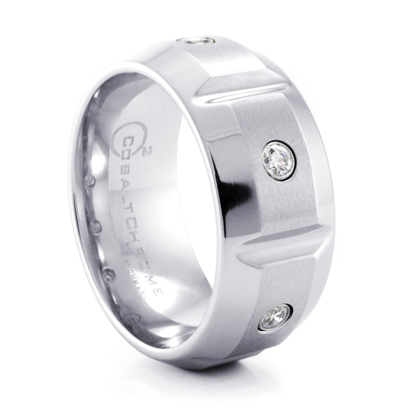 jewelers by ring wedding mm rings larson p benchmark concave tungsten band lexington brushed