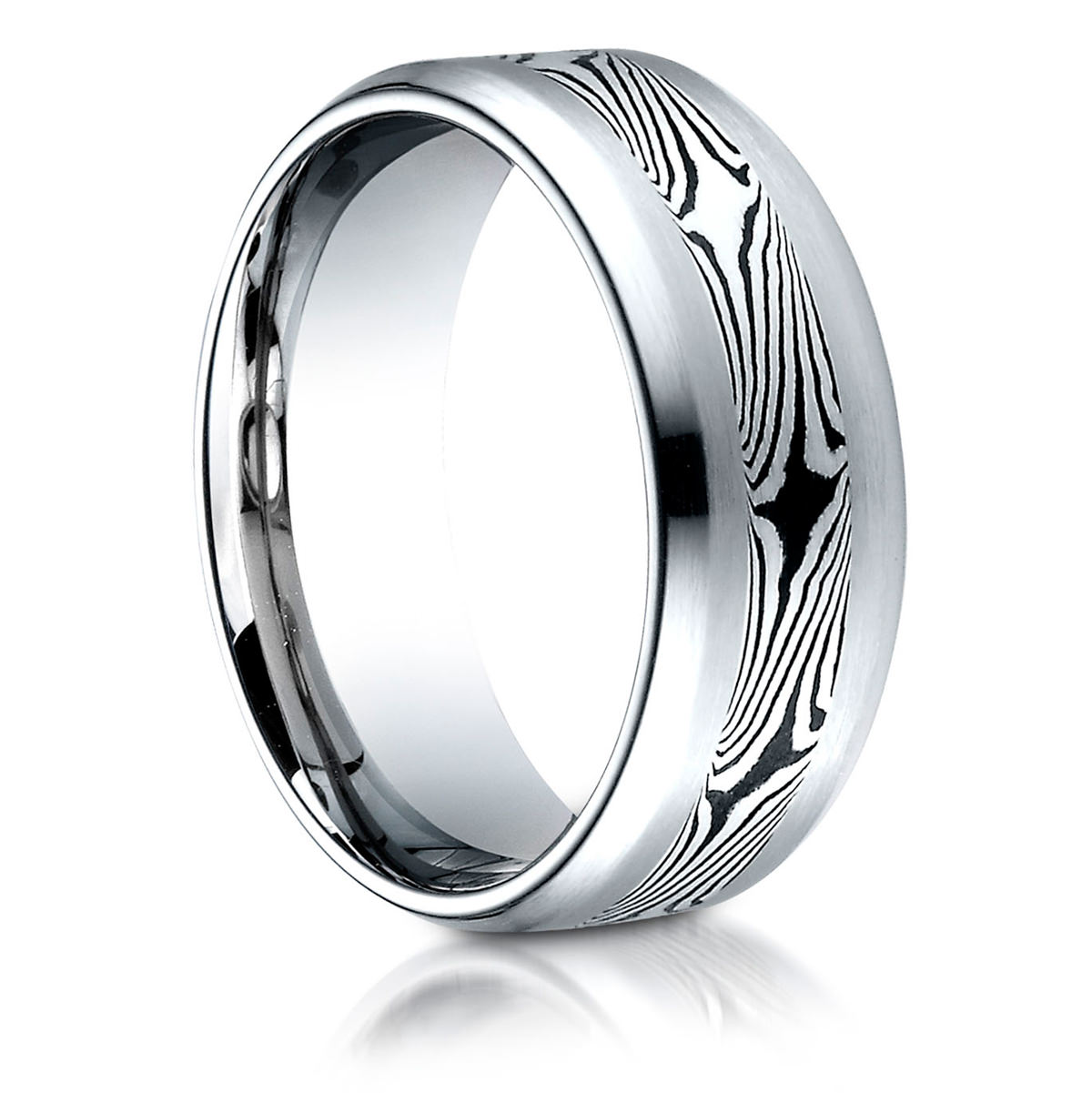 silver moon gane rings striped copper product full mokume ring