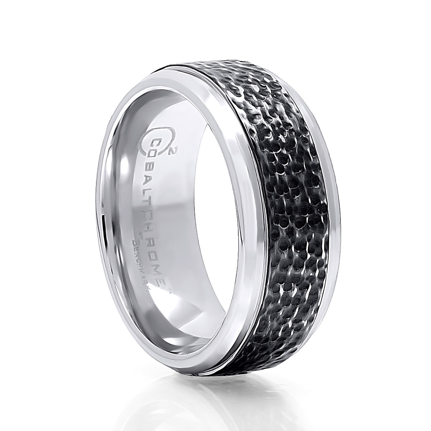 men chrome cobalt mens rings p quick with blackened just from s grooves wedding benchmark designer view band ring
