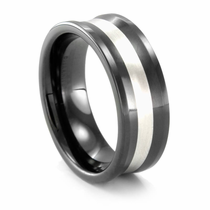 BENCHMARK Seranite & Sterling Silver Concave Ring Julian
