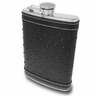 Black Brocaded Leather Flask