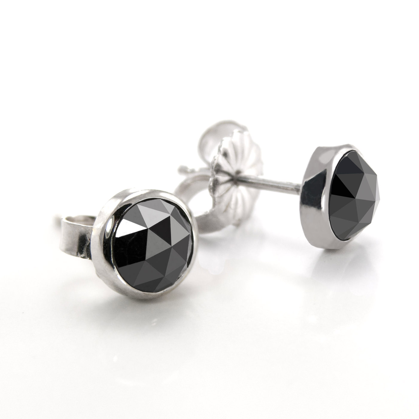 stud black style earrings in white carat diamond gold products halo