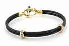 "Black Titanium Cable & Diamond ""Mariners"" Bracelet"