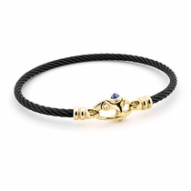 "Black Titanium Cable ""Mariners"" Bracelet"