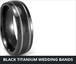 Unique Mens Wedding Bands Mens Wedding Rings in Titanium