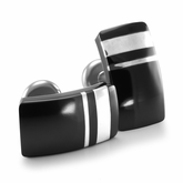 Black Titanium & Silver Cufflinks from the Wellington Collection by Edward Mirell