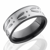 Black Zirconium Deer Track Ring by Lashbrook Designs