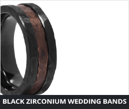 Black Zirconium Rings by Lashbrook