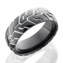Black Zirconium Tire Ring by Lashbrook Designs