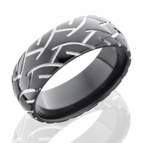 Black Zirconium Super Slick Tire Ring by Lashbrook Designs