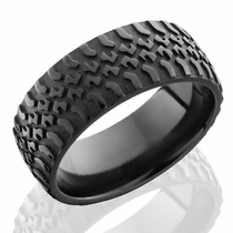 Black Zirconium Truck Tire Ring by Lashbrook Designs
