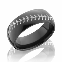 Black Zirconium White Baseball Design