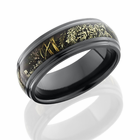 Black Zirconium and Camo Ring by Lashbrook Designs