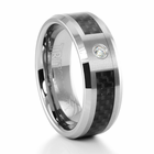 BROCKTON Tungsten  and Carbon Fiber Ring by TRITON