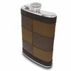 Brown Patched Leather Flask