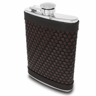 Brown Threaded Leather Flask