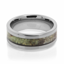 Camouflage Tungsten Carbide Wedding Band Decoy