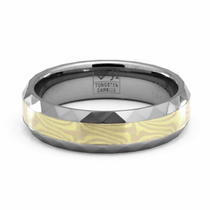 CIRRUS Tungsten and Mokume Gane Ring by Jewelry Innovations