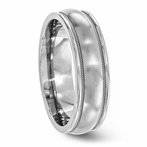 Classic Titanium Ring With Milgrained Edge