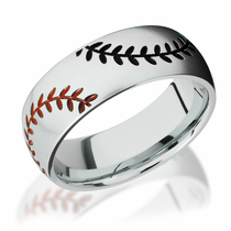 Cobalt Chrome Black and Orange Baseball Design
