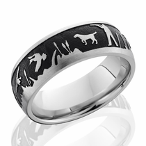 Cobalt Chrome Duck Hunt Ring by Lashbrook Designs