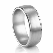COGE 8mm Low Dome Palladium Ring