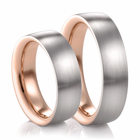 COGE Palladium and Red Gold Wedding Bands - Set