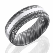 Damascus and White Gold Ring by Lashbrook Designs
