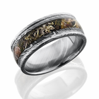 Damascus Steel and Kings Mountain Camo Ring by Lashbrook Designs
