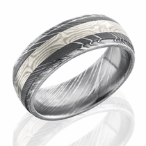 Damascus Steel and Mokume Band by Lashbrook Designs