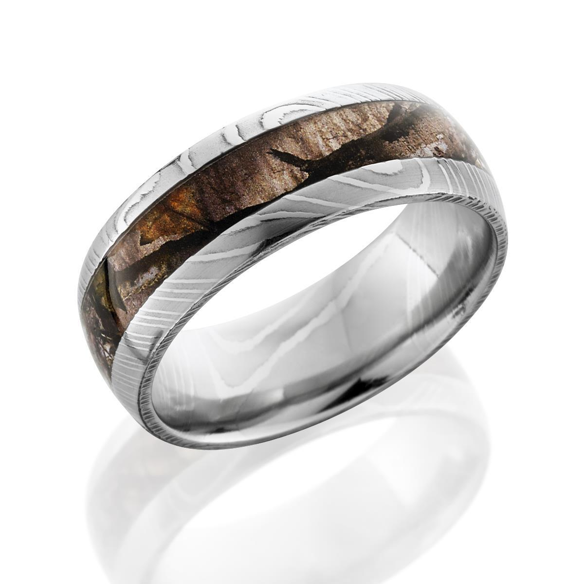 Damascus Steel Camo Ring by Lashbrook Designs