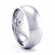 Domed Cobalt Chrome Ring by Heavy Stone Rings