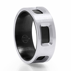 DUALIS Cobalt Chrome Ring by Heavy Stone Rings