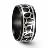 Edward Mirell Black Ti & Sterling Silver COBBLESTONE Ring