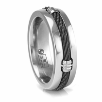 Edward Mirell Black Titanium Cable Band