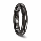EDWARD MIRELL Black Titanium Comfort Fit Band - 4mm